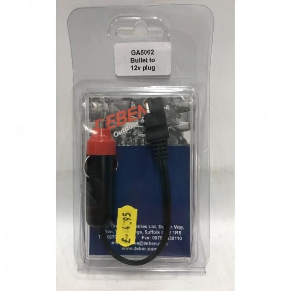 Deben Bullet to 12V plug