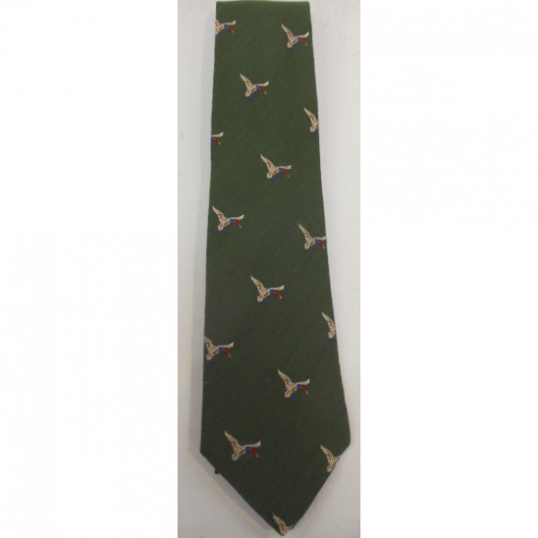 NEW Atkinsons: Tie  Wool/silk Light green/Duck