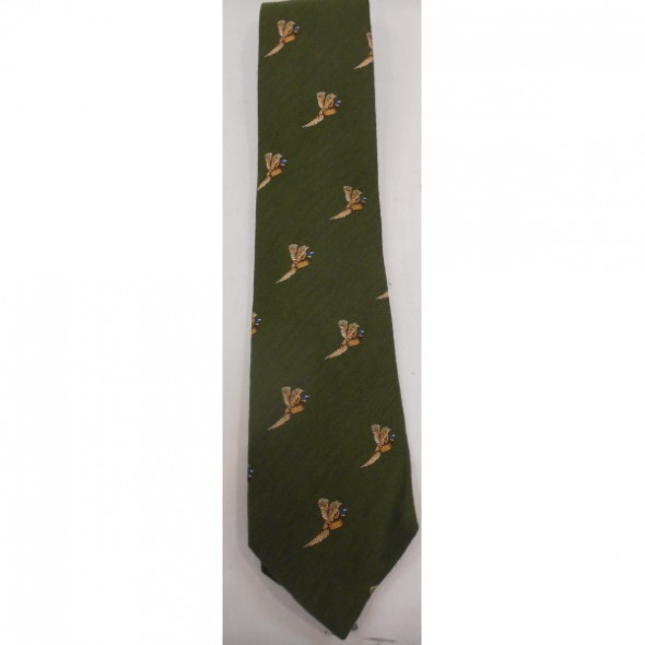 NEW Atkinsons: Silk tie Olive/Pheasant