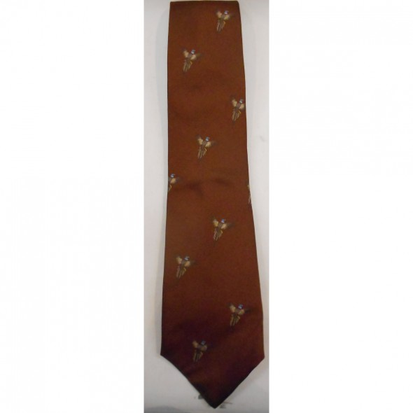 Atkinsons: Silk tie Brown/Pheasant