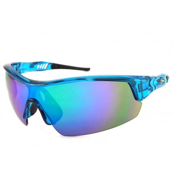 NEW Dirty Dog: Edge sport crystal blue / green fusion mirror 58060