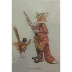 Leila Winslade-Card Farcical Foxes - A Cocky Bird