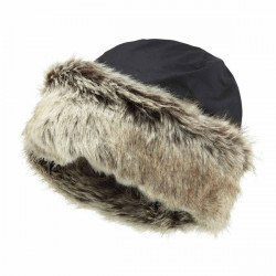 Barbour-Ambush wax/fur hat Navy