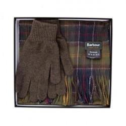 Barbour-Lambswool Tartan Gift Set scarf & glovesTartan/Olive