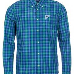 Barbour-Gingham Laundred Shirt Nevada Green
