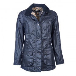 Barbour-Beadnell wax jacket - Navy size 12