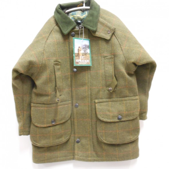 NEW Beaver: Kids Tweed waterproof jacket