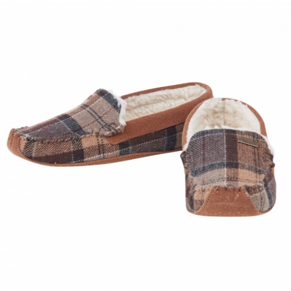 NEW Barbour: Betsy slippers Camel Tartan