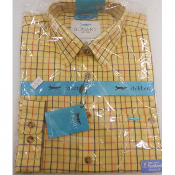 Bonart: Boys Carmarthen Shirt Gold