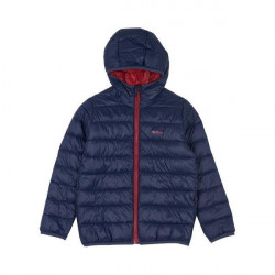 Barbour-Boys Trawl quilt jacket Navy/red