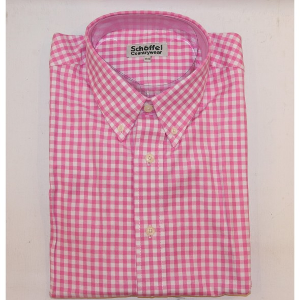 Schoffel Button Up Shirt Pink Check