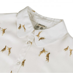 Musto-Country pattern shirt ladies - Boxing hares