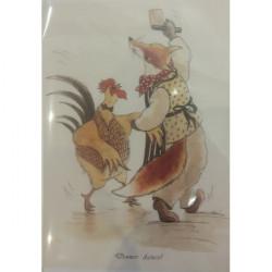 Leila Winslade-Card Farcical Foxes - Dinner Dance!