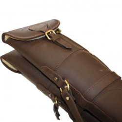 Teales Sporting Ltd-Devonshire Oil leather double gunslip 30