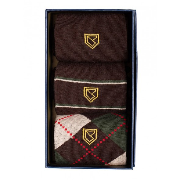 Dubarry-Kinnitty socks 3 pack - Brown