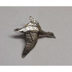 John Rothery-Pewter pin - Duck Single