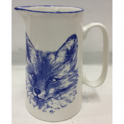 Muffet Monro-2 pint jug blue/white - Fox head