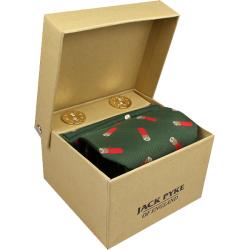 Jack Pyke-Hanky and cufflink gift set - cartridge green