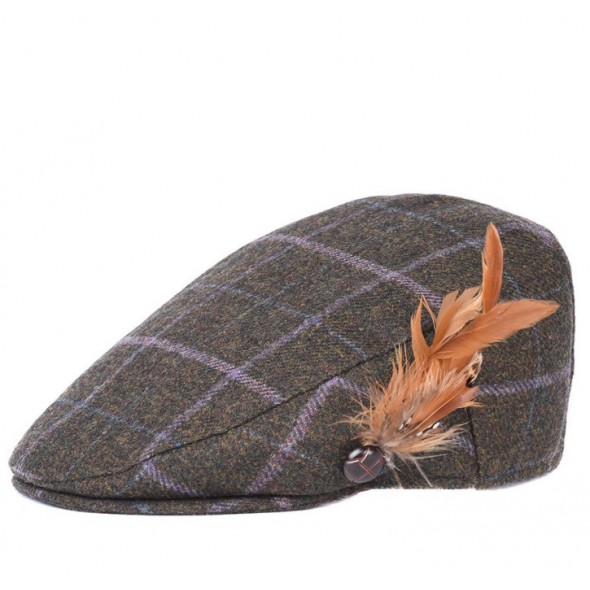 a49a8bee5e0 NEW Barbour Ladies Tweed flat cap Olive lilac