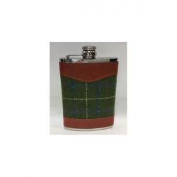 Bonart-Hip flask Tweed 8 oz - Brown