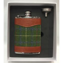 Bonart-Hip flask Tweed 8 oz - Green