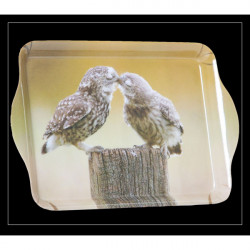 Country Matters-Trinket tray - Kissing owls