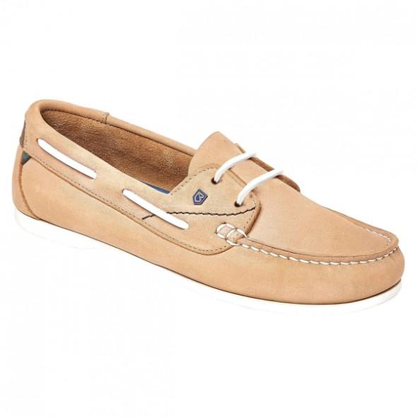 NEW Dubarry: Aruba ladies lace up deck shoe - Beige UK5/EU38