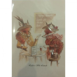 Leila Winslade-Card Farcical Foxes - Ladies Wot Lunch