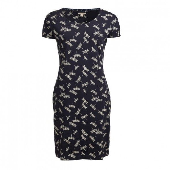 Barbour Manor Dress Navy Dragonfly