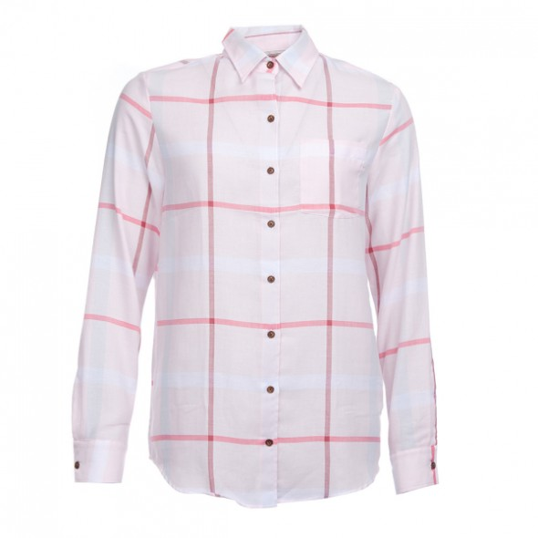 Barbour-Oxer shirt pale pink