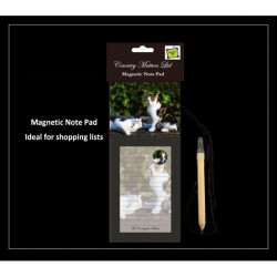 Country Matters-Magnetic note pad - Cats Bored Norman