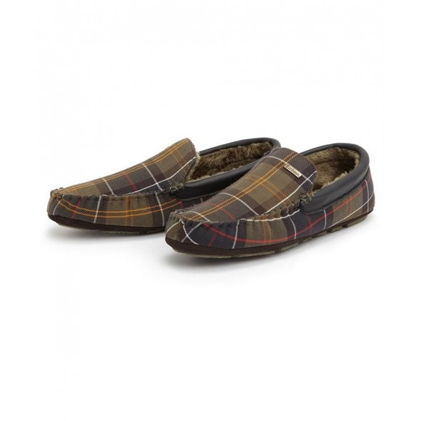 NEW Barbour: Monty Slipper Classic Tweed