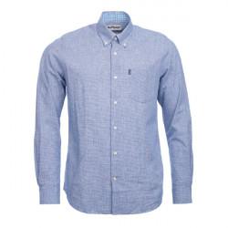 Barbour-Austin shirt Linen  (TF) Navy