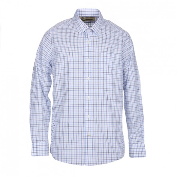 Barbour-Blakely Shirt mid blue