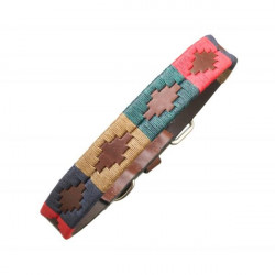 Pampeano-Leather Dog Collar - Navidad