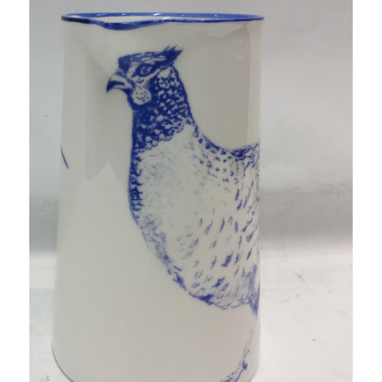 Muffet Monro-2 pint jug blue/white - Pheasants large