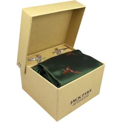 Jack Pyke-Hanky and cufflink gift set - pheasant green