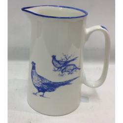Muffet Monro-2 pint jug blue/white - Pheasants