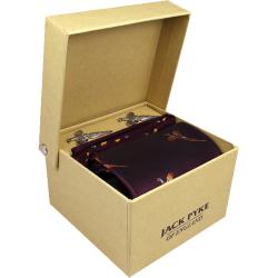 Jack Pyke-Hanky and cufflink gift set - pheasant wine