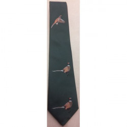 Atkinsons-Polyester Tie Flying & Standing Bird Loden