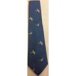 Atkinsons-Polyester Tie Flying & Standing Bird Navy