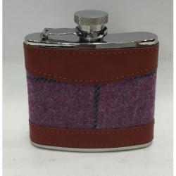 Bonart-Hip flask Tweed 4 oz - purple