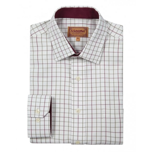 Schoffel Burnham Tattersall shirt Ruby check
