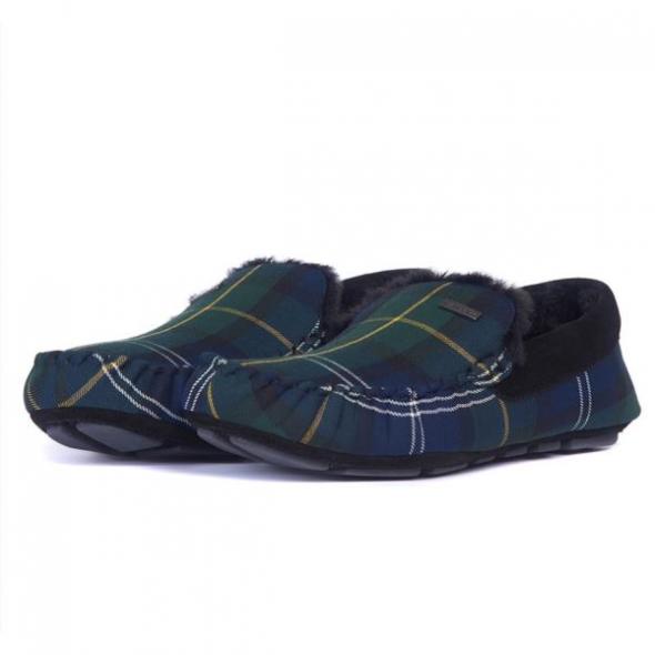Barbour-Monty mens slippers - Recycled Seaweed tartan