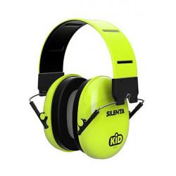 Swatcom-Silenta Kid 27 SNR folding Earmuffs - Hi Viz green
