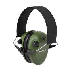 Swatcom-Slim Electronic Hearing protection - Green