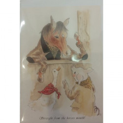 Leila Winslade-Card Farcical Foxes - Straight From The Horses Mouth!