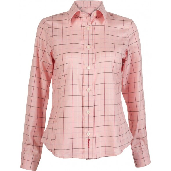 Barbour Classic Tattersall Shirt Pink Cream