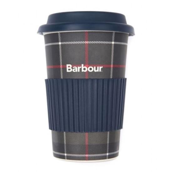 Barbour-Tartan Travel Mug - Blue classic check