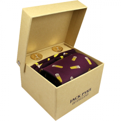 Jack Pyke-Hanky and cufflink gift set - cartridge wine